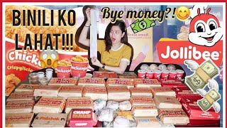 ORDERING THE ENTIRE MENU OF JOLLIBEE | MAUBOS KO KAYA? HAHAHA!