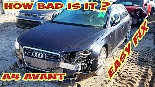 We Bought Wrecked Audi A4 Avant from Copart! 😱Rebuilding process! (Part 1)