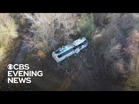 Child killed, dozens hurt in Arkansas charter bus crash