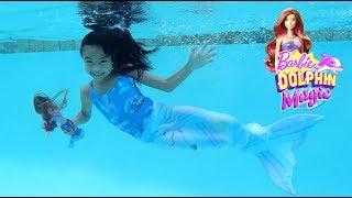 Unicorn Mermaid with Barbie Dolphin Mermaid & Barbie Bubbletastic Fairy Dolls | Toys Academy