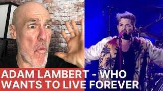 Voice Teacher Reacts - Adam Lambert + Queen - Who Wants To Live Forever, Live - Isle Of Wright 2016