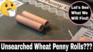 Unsearched Wheat Penny Rolls From eBay!
