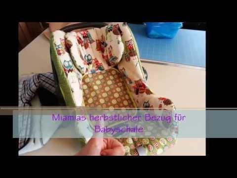 herbstlicher Bezug für Babyschale nähen // Dawanda ´s Miamia