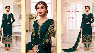 Latest Indian Dresses Collections 2017 || NYSA LIFESTYLE || STRAIGHT SUIT COLLECTION VOL 7