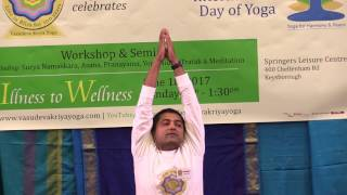 Yoga Demonstration - Parvatasana for healthy back
