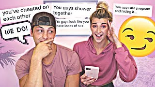 Reacting To Your DIRTY Assumptions About Our Relationship