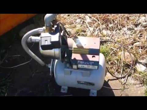Gartenpumpe in Betrieb nehmen/water pump into operation