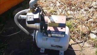 Gartenpumpe in Betrieb nehmen/water pump into operation