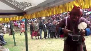 preview picture of video 'Gomkora Tsechu day 3 - 7 Pranks of the Atsaras'