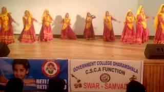 Jhamakda Folk Danca Mca Dept @ Govt College Dharamshala
