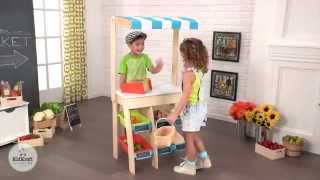 Childrens Wooden Grocery Market Place Play Kitchen