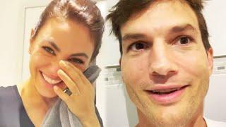 Ashton Kutcher and Mila Kunis MOCK Their Kids' Bathing Routine