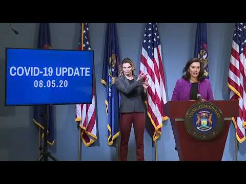 August 5, Governor Whitmer Press Conference