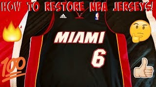 Basketball Jersey Restoration Tutorial