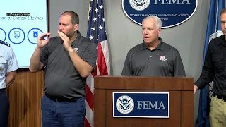 FEMA and federal partners provide an update on Hurricane Michael Oct. 11, 2018.