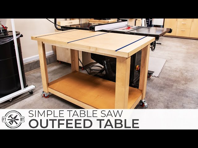 Simple Table Saw Outfeed Assembly Table | DIY Woodworking