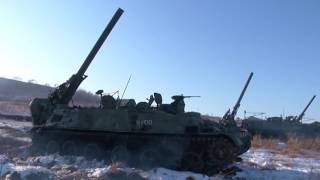Артдивизион большой мощности 240-мм минометами 2С4 «Тюльпан» поразил позиции усл.противника