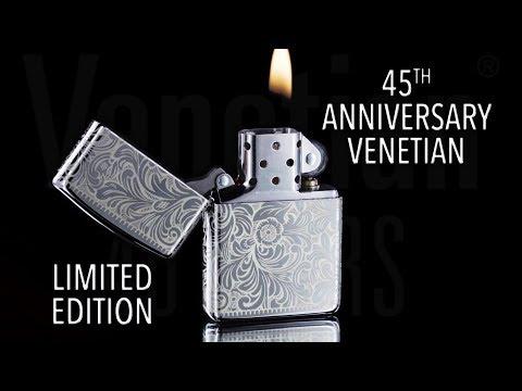 45th Anniversary Venetian Zippo Lighter