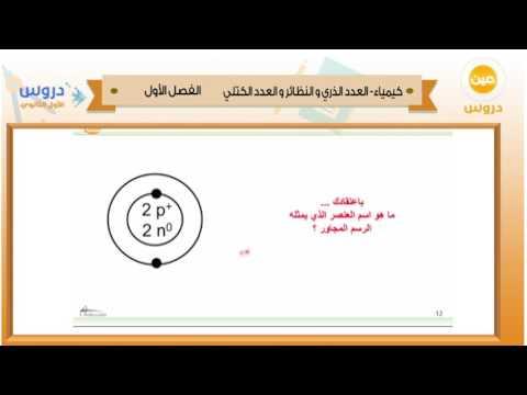 الأول الثانوي | الفصل الدراسي الأول 1438 | كيمياء | العدد الذري والنظائر والعدد الكتلي
