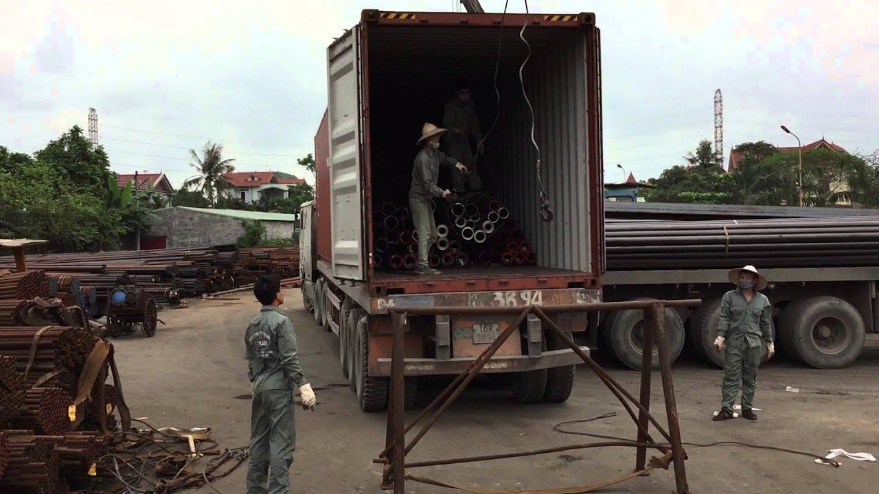 Quy trình đóng hàng thép ống đúc, thép ống hàn từ Thành Phố Hải Phòng đến Thành Phố Hồ Chí Minh bằng Container