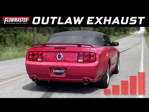 2005-10 Ford Mustang GT 4.6L, GT500 5.4L - Outlaw Series Axle-back Exhaust System
