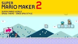 super mario maker 2 snow music super mario world - TH-Clip