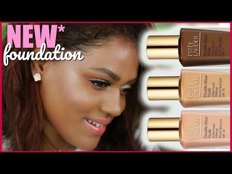 NEW* Estee Lauder Double Wear Nude Water Fresh Makeup Foundation Review + Demo