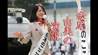 衆議院選挙2017日本のこころ赤尾由美街頭演説2017年10月12日