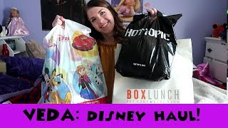 VEDA // Disney Merchandise Haul // hot topic, bux lunch, disney store