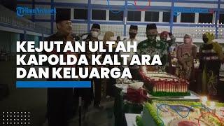 Kapolda Kaltara Irjen Pol Bambang Kristiyono Berikan Kejutan Ultah kepada Danrem 092 Maharajalila