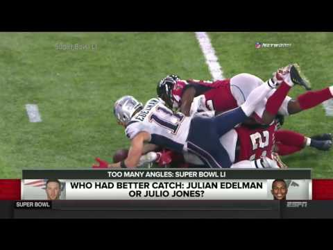 SportsNation Super Bowl 51 Who Had Better Catch Julian Edelman Or Julio Jones