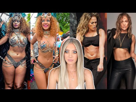 REACTING TO 'BODY GOALS' INFLUENCER CELEBS IN REAL LIFE - JENNIFER LOPEZ & RIHANNA