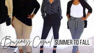 BUSINESS CASUAL LOOKBOOK | SUMMER TO FALL WORK OUTFITS | FALL OFFICE WEAR