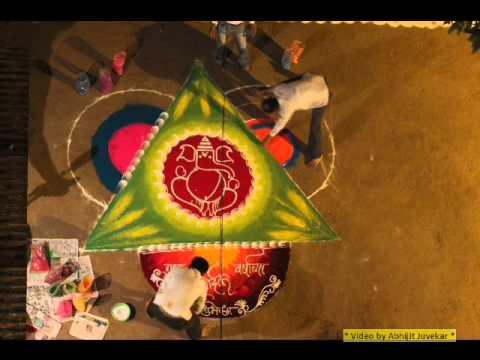 time lapse rangoli design by abhijit juvekar