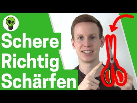 Scheren schleifen ✅ TOP ANLEITUNG: Schärfen von Haushaltsschere, Friseurschere & Gartenschere!!!