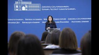 14.10.2019 ԱԳՆ մամուլի խոսնակ Աննա Նաղդալյանի ճեպազրույցը լրագրողների հետ
