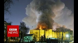 Russian shopping centre inferno kills 64 - BBC News
