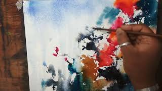 Abstract Flower Watercolor Tutorial, An Easy And Fun Lesson | Art Explain