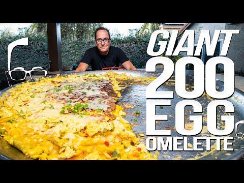 I MADE A GIANT 200 EGG OMELETTE | SAM THE COOKING GUY 4K