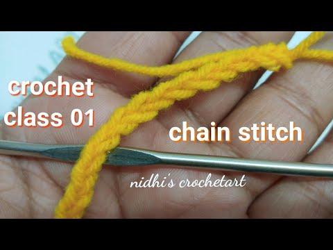 Crochet class 01 for beginners / chain stitch