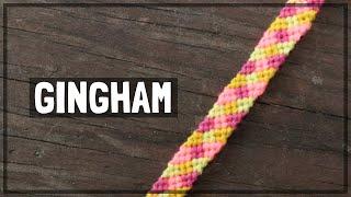 Gingham Friendship Bracelet Tutorial