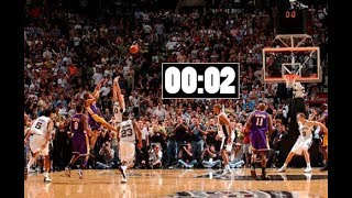 NBA Top 10 Closest Game Winners Of All Time