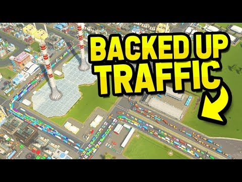 FIXING BACKED UP TRAFFIC in CITIES SKYLINES