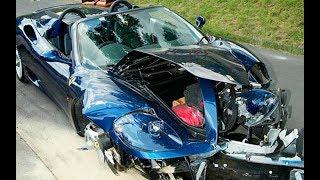 Аварии с участием суперкаров.  Самые дорогие аварии 2017