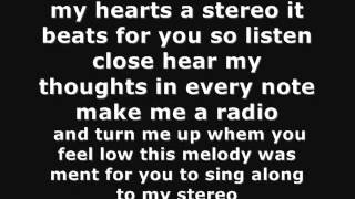 my hearts a stereo by gym class heroes ft maroon 5 (lyrics