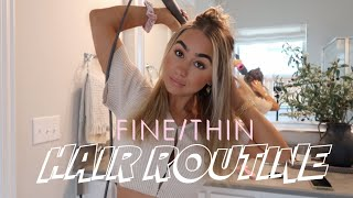 EVERYDAY HAIR ROUTINE For FINE/THIN HAIR | Julia Havens