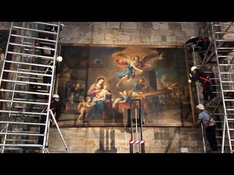 Dos cuadros de la basílica de Begoña de Bilbao se trasladan a Sevilla