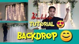 Backdrop Ideas. Stage Basic Background. Wedding Backdrop. #tutorial