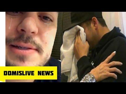 Rob Kardashian Cries 😰 Blac Chyna Leaves Takes Baby Dream! (Rob Kardashian Snapchat)