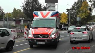 preview picture of video 'RTW (TIGIS) JUH Siegburg -PKW muß über Boardsteinkante ausweichen!- (HD)'